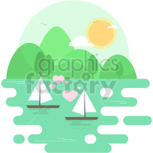 Love boats vector clipart icon clipart. Commercial use image # 414735