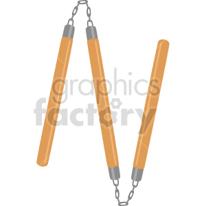 double nunchucks triple staff vector clipart clipart. Commercial use image # 414827