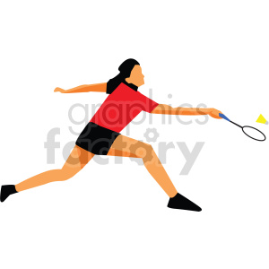 Olympic badminton vector design clipart. Commercial use image # 414919