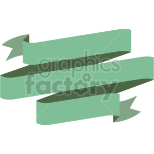 triple green ribbon design vector clipart clipart. Commercial use image # 415003