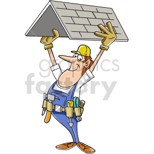 cartoon roofer vector clipart clipart. Commercial use image # 415039