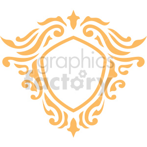carve frame design vector clipart clipart. Commercial use image # 415058