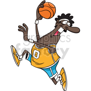 black basketball player with ball clipart clipart. Commercial use image # 415079