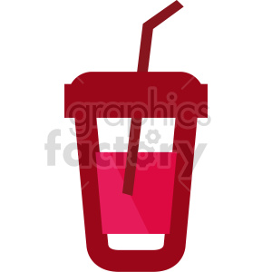 drink with straw vector clipart clipart. Commercial use image # 415152