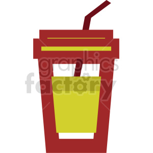 yellow drink with straw vector clipart clipart. Commercial use image # 415155