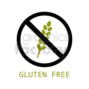 gluten free symbol vector graphic 02 clipart. Commercial use image # 415170