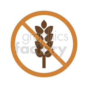 gluten free symbol vector graphic 05 clipart. Commercial use image # 415179