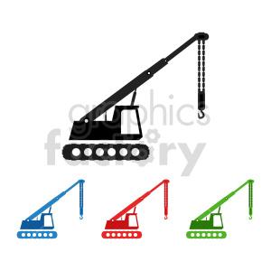 clipart - construction cranes clipart.