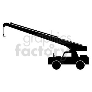 clipart - crane truck vector clipart.