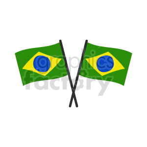 Flag of Brazil vector clipart 1 clipart. Commercial use image # 415289