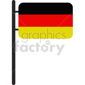 clipart - flag of Germany vector clipart icon 03.