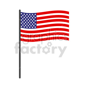 flag of United States vector clipart 04 clipart. Commercial use image # 415339