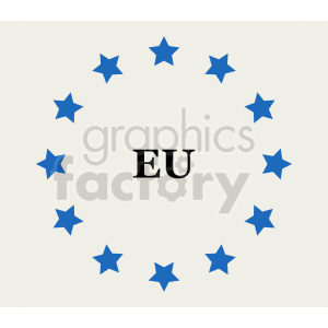 Flag of European Union vector clipart 02 clipart. Commercial use image # 415368