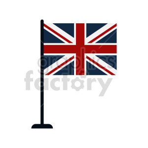 Union Jack Flag of United Kingdom vector clipart 02 clipart. Commercial use image # 415398