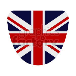 Great Britain flag shield vector clipart 01 clipart. Commercial use image # 415409
