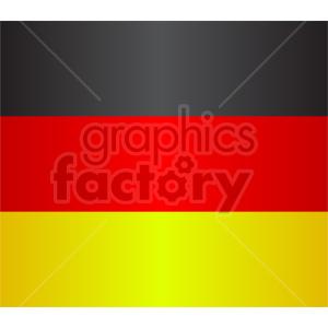 clipart - German flag vector clipart icon 08.