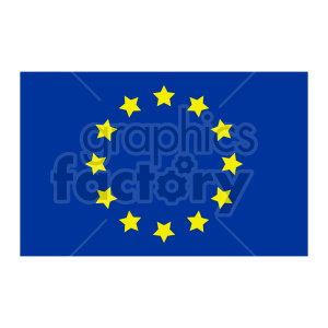 Flag of Europe vector clipart 03