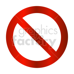 cancel street sign vector graphic clipart. Commercial use image # 415516