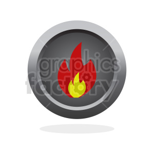 fire vector clipart icon clipart. Commercial use image # 415570
