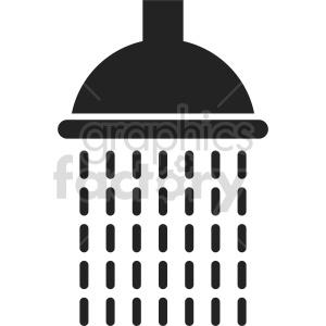 clipart - shower head vector clipart.