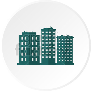 vector skyscraper icon clipart. Commercial use image # 415666