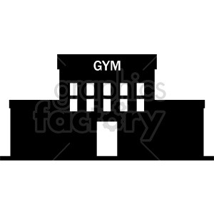 gym building vector clipart clipart. Commercial use image # 415715