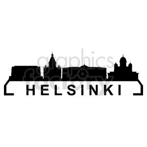clipart - Helsinki city skyline vector clipart.