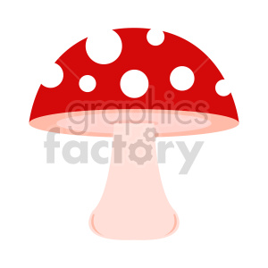 red cap mushroom vector clipart. Commercial use image # 415770