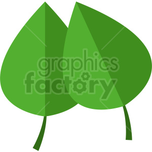two green leafs clipart clipart. Commercial use image # 415817