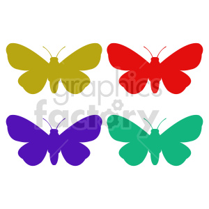 butterfly silhouette vector clipart 09 clipart. Commercial use image # 415943
