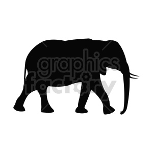 elephant vector shape clipart. Commercial use image # 415958