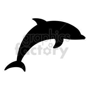 dolphin shape vector clipart clipart. Commercial use image # 415966