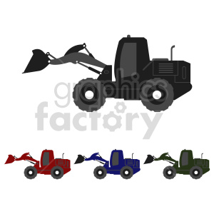 tractor bundle vector graphic clipart. Commercial use image # 416015