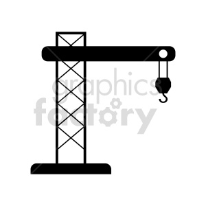 tower crane vector clipart clipart. Commercial use image # 416038