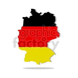 clipart - germany flag with drop shadow vector clipart.