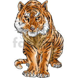 clipart - tiger vector clipart.
