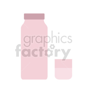 water bottle and cup vector clipart clipart. Commercial use image # 416223