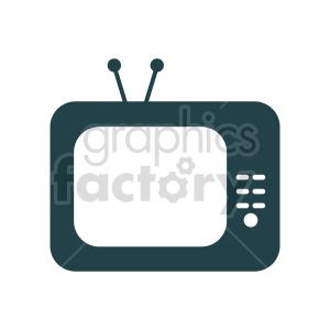 vintage tv vector clipart