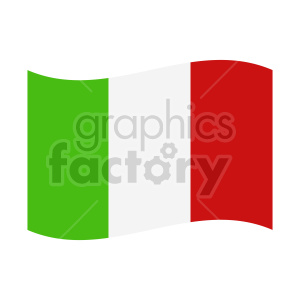 italy flag waving graphic