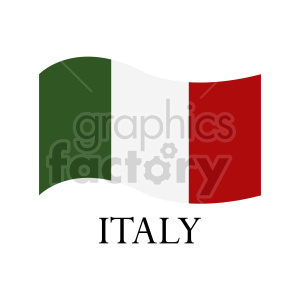 italy flag vector icon clipart. Commercial use image # 416320