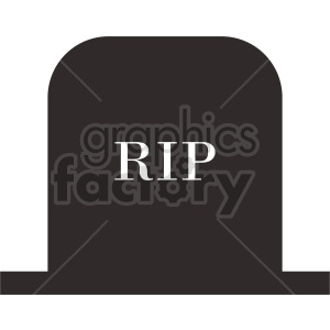 rip tombstone vector graphic
