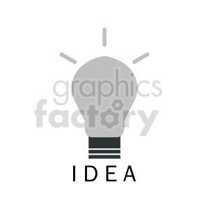 lightbulb idea clipart clipart. Commercial use image # 416383