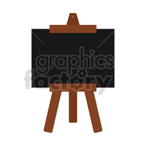 framed chalkboard stand clipart clipart. Commercial use image # 416400