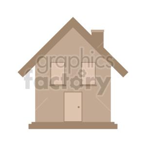 clipart - little house vector clipart.