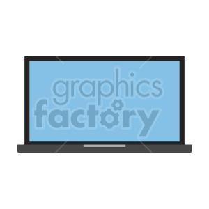 clipart - computer laptop vector clipart.