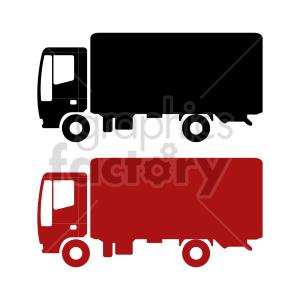 clipart - box truck vector clipart.
