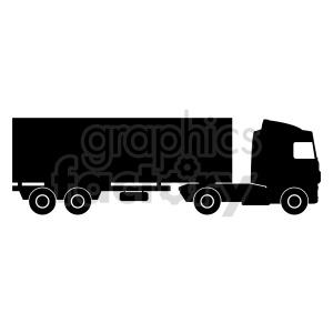clipart - semi truck vector clipart.