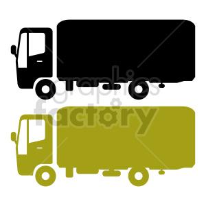 clipart - delivery truck vector clipart bundle.
