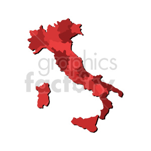 clipart - red italy vector clipart.