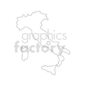 clipart - italy vector outline.
